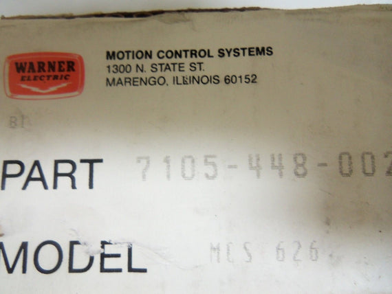 WARNER ELECTRIC MCS-626 *NEW IN BOX*