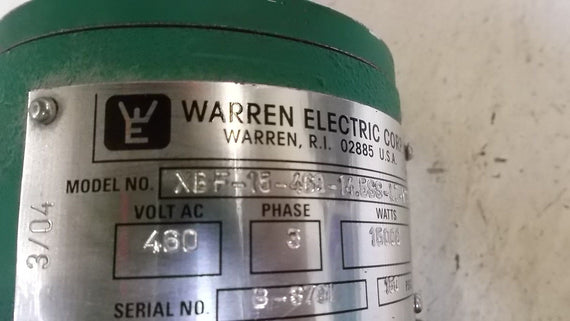 WARNER ELECTRIC XBF-15-460-14.5SS-LTY*3 HEATER *USED*