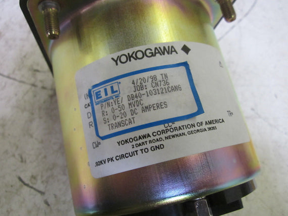 YOKOGAWA DB40-103121CANG PANEL MOUNT 0/20 DC AMPERES *NEW NO BOX*