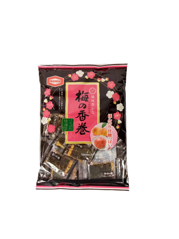 KAMEDA <BR> Rice Biscuits, Plum Flavor 58g