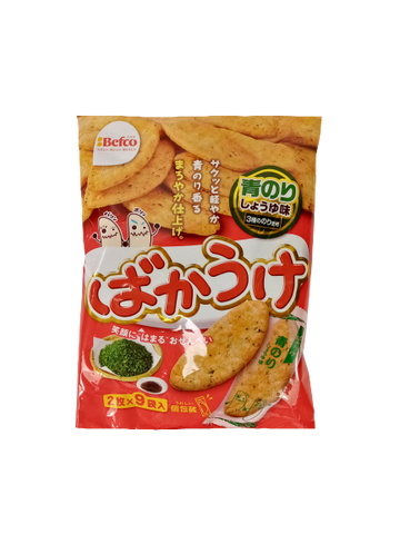 KURIYAMA <BR> Rice Biscuits, Nori Flavor 16 Pieces