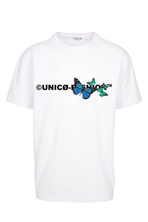 UNICØ-FASHION BUTTERFLY WHITE TEE