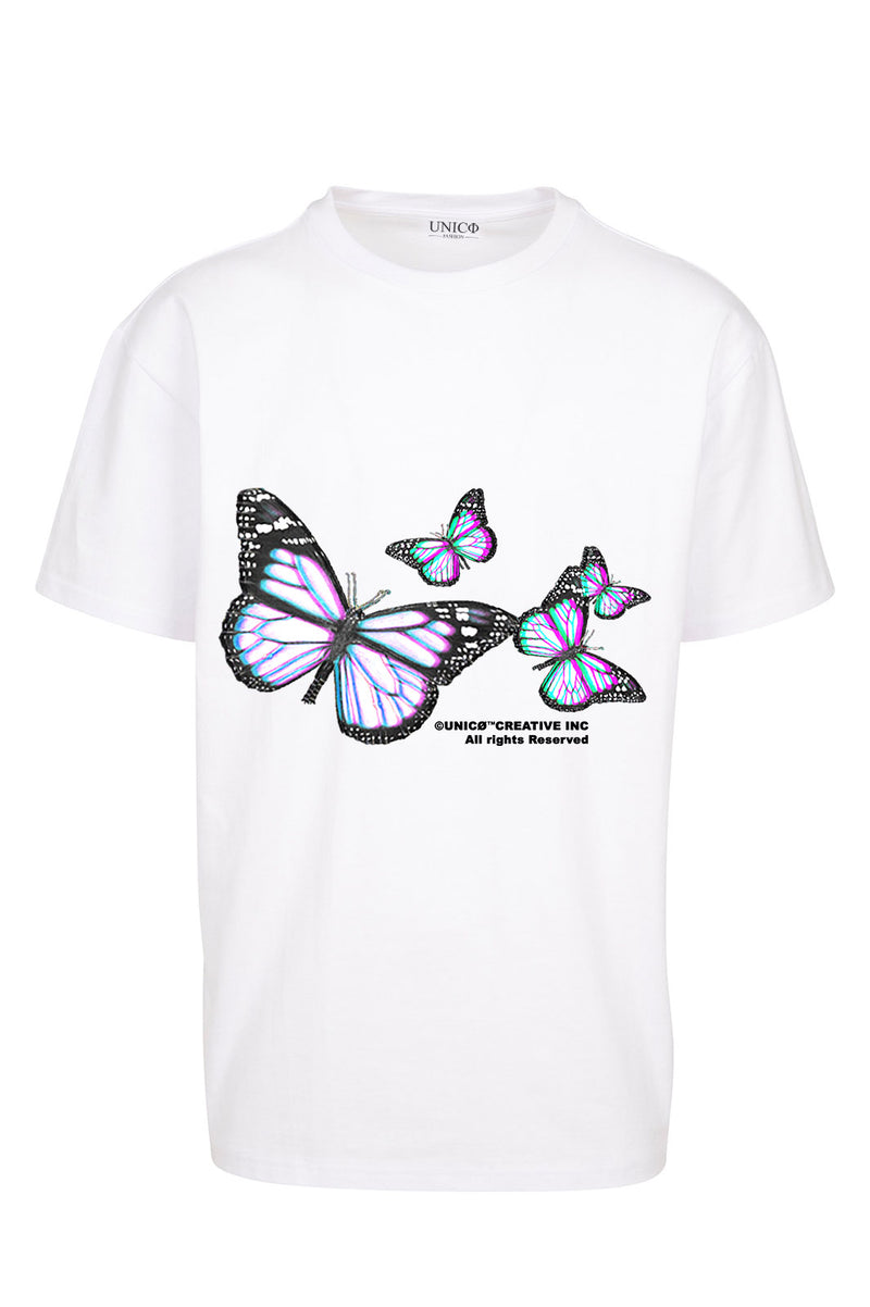 UNICØ BUTTERFLY`s WHITE TEE