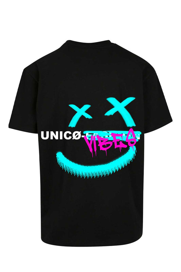 UNICØ VIBES SMILE BLACK TEE