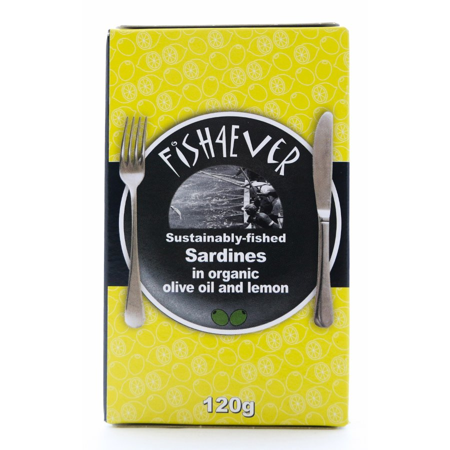 Fish 4 Ever - Sardines in Organic Olive Oil and Lemon (120g)