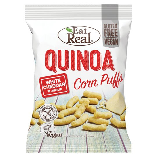Eat Real - Quinoa Corn Puffs White Cheddar Flavour (40g)