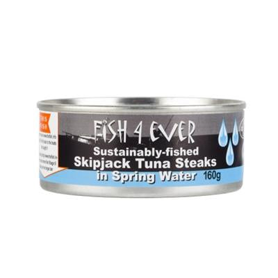 Fish 4 Ever - Skipjack Tuna Steaks in Spring Water (160g)