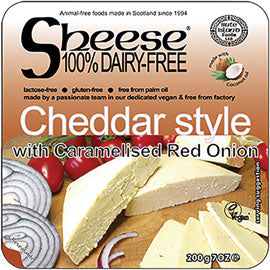 Sheese - Vegan Cheese Cheddar Style with Caramelised Red Onion (200g)