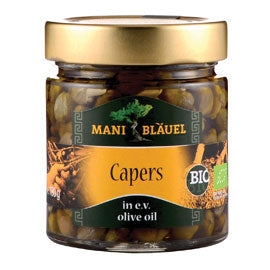 Mani Organic - Capers - In Extra Virgin Olive Oil (180g)
