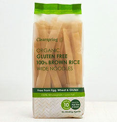 Clearspring - Gluten Free Noodles Wide 100% Brown Rice (200g)