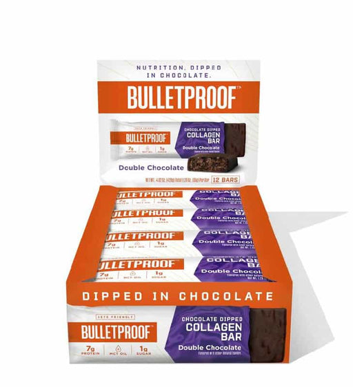 Bulletproof Chocolate Dipped Collagen Bars Double Chocolate 1