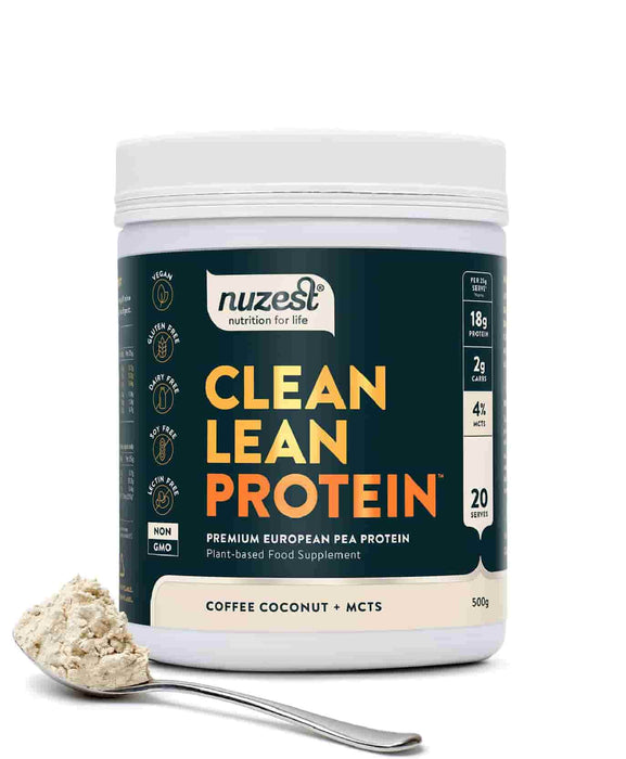 NuZest Clean Lean Protein Coffee Coconut + MCTs 500 g