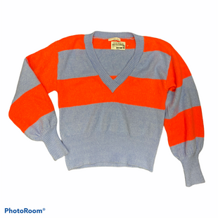 Primary Photo - BRAND:    CLOTHES MENTOR STYLE: SWEATER LIGHTWEIGHT COLOR: STRIPED HOT PINK & BLUESIZE: S OTHER INFO: JUNE & HUDSON - SKU: 206-20618-90694