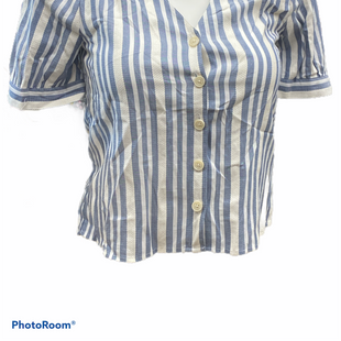 Primary Photo - BRAND: MADEWELL STYLE: TOP SHORT SLEEVE COLOR: BLUE WHITE SIZE: S SKU: 206-20618-93545