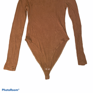 Primary Photo - BRAND: FOREVER 21 STYLE: TOP LONG SLEEVE (BODYSUIT)COLOR: BROWN SIZE: M SKU: 206-20664-10624