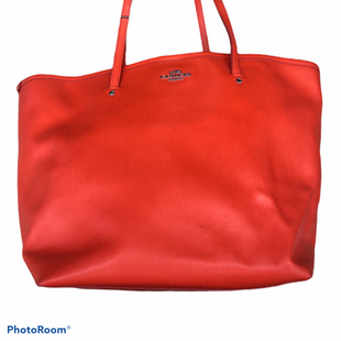 Primary Photo - BRAND: COACH STYLE: HANDBAG DESIGNER COLOR: ORANGE SIZE: LARGE OTHER INFO: AS IS-CROSSGRAIN TAXI TOTE SKU: 206-20618-86177
