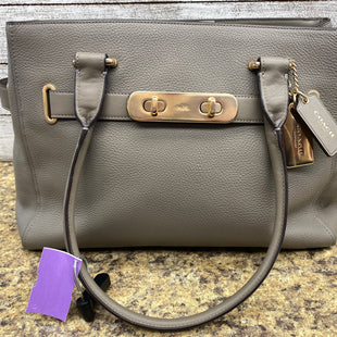 Primary Photo - BRAND: COACH STYLE: HANDBAG DESIGNER COLOR: GREY SIZE: LARGE OTHER INFO: SWAGGER-36488 SKU: 206-20618-88350