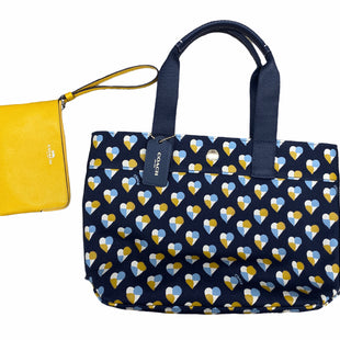 Primary Photo - BRAND: COACH STYLE: HANDBAG DESIGNER COLOR: NAVY SIZE: MEDIUM OTHER INFO: WITH WRISTLET SKU: 206-20689-10798
