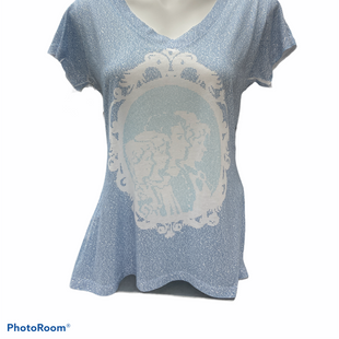 Primary Photo - BRAND:    CLOTHES MENTOR STYLE: TOP SHORT SLEEVE COLOR: BLUE SIZE: L OTHER INFO: LITOGRAPHS - SKU: 206-20664-13055
