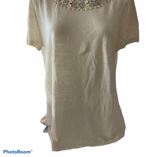 Primary Photo - BRAND: TORY BURCH STYLE: TOP DESIGNER COLOR: CREAM SIZE: XL SKU: 206-20618-92579