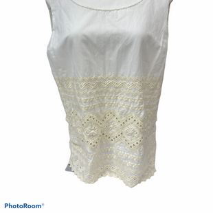 Primary Photo - BRAND: TORY BURCH STYLE: TOP SLEEVELESS COLOR: WHITE SIZE: XL SKU: 206-20693-8669