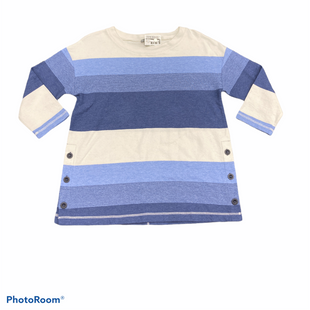 Primary Photo - BRAND: TALBOTS O STYLE: TOP LONG SLEEVE COLOR: WHITE BLUE SIZE: PETITE  MEDIUM SKU: 206-20618-90316