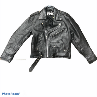 Primary Photo - BRAND:  CMB STYLE: JACKET LEATHER COLOR: BLACK SIZE: L OTHER INFO: FMC -AS IS NECK SKU: 206-20618-86063