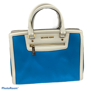 Primary Photo - BRAND: MICHAEL KORS STYLE: HANDBAG DESIGNER COLOR: BLUE SIZE: LARGE OTHER INFO: SELMA CANVAS NWT SKU: 206-20639-12300