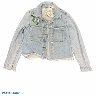 Primary Photo - BRAND: H&M STYLE: JACKET OUTDOOR COLOR: DENIM BLUE SIZE: S SKU: 206-20664-11651