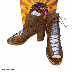 Primary Photo - BRAND: JEFFERY CAMPBELL STYLE: BOOTS ANKLE COLOR: BROWN SIZE: 8.5 SKU: 206-20664-10363