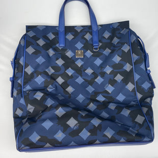 Primary Photo - BRAND: MCM STYLE: HANDBAG DESIGNER COLOR: BLUE SIZE: LARGE OTHER INFO: $725 DIETER MUNICH LION SKU: 206-20618-87530