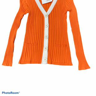 Primary Photo - BRAND: CABLE AND GAUGE STYLE: SWEATER CARDIGAN LIGHTWEIGHT COLOR: ORANGE SIZE: S SKU: 206-20689-11548