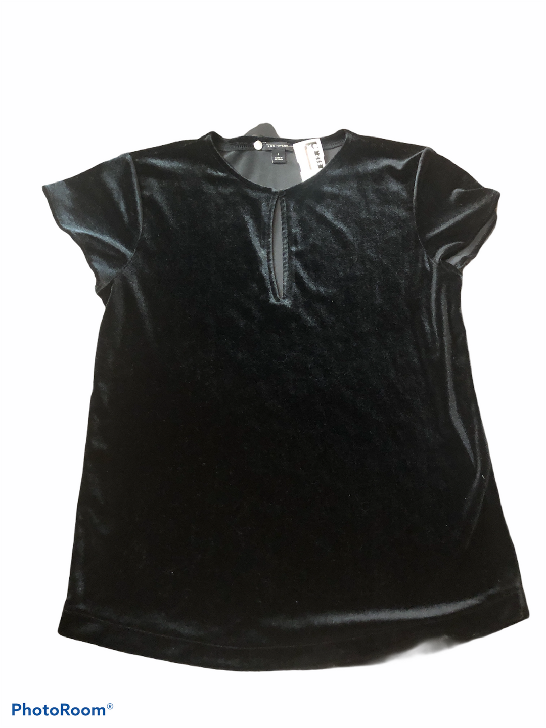 Primary Photo - BRAND: ANN TAYLOR <BR>STYLE: TOP SHORT SLEEVE <BR>COLOR: BLACK <BR>SIZE: S <BR>SKU: 206-20693-4609