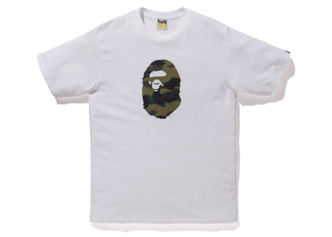 "BAPE APE HEAD TEE ""GREEN CAMO/WHITE"" - Sz SMALL"