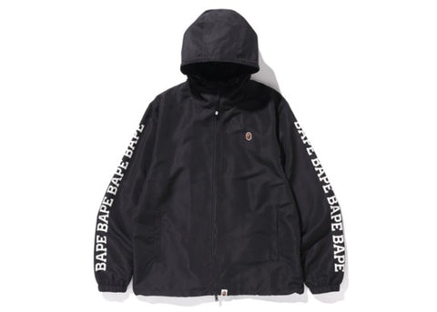 "BAPE LIGHTWEIGHT WINDBREAKER JACKET ""BLACK"" - Sz SMALL"
