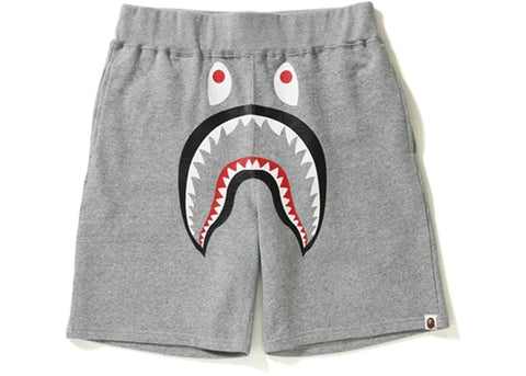 "BAPE SHARK SWEAT SHORTS ""GREY/ YELLOW CAMO POCKET"" - Sz XX-LARGE"