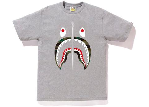 "BAPE SHARK GREEN CAMO LIP TEE ""GREY"" - Sz X-LARGE"