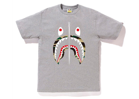 "BAPE SHARK YELLOW CAMO LIP TEE ""GREY"" - Sz X-LARGE"