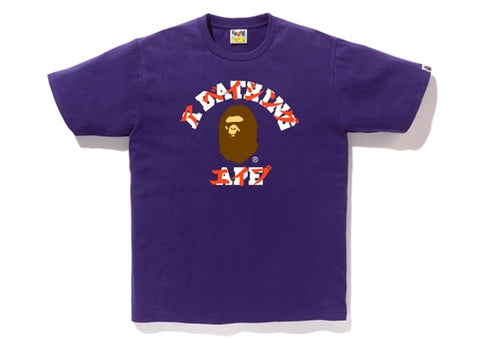 "BAPE KATAKANA COLLEGE TEE ""PURPLE"" - Sz MEDIUM"