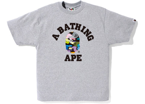 BAPE MULTI-CAMO COLLEGE TEE - Sz XL