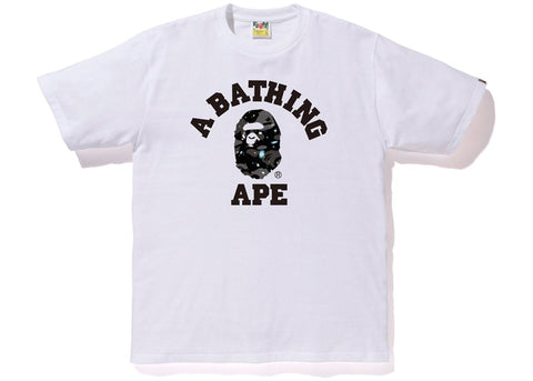 "BAPE COLLEGE SPACE CAMO TEE ""WHITE"" - Sz LARGE"