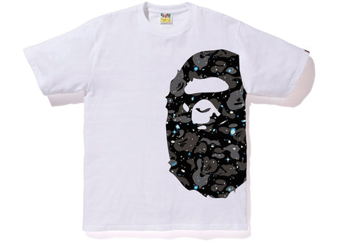 "BAPE SIDE APE HEAD SPACE CAMO TEE ""WHITE"" - Sz LARGE"