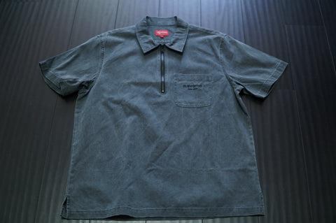 SUPREME TWILL HALF ZIP SHIRT - Sz Large