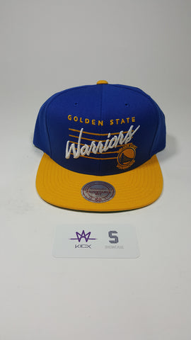 Mitchell and Ness Golden State Warriors Cursive Script Snapback