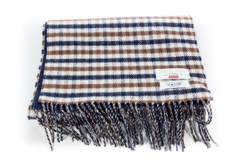 SUPREME/ AQUASCUTUM CHECKERED SCARF - Sz O/S