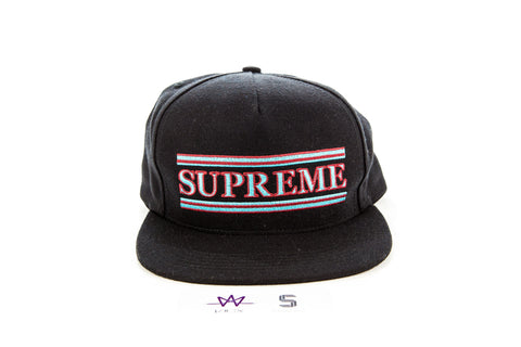 f2a06d48 SUPREME 5 STRIPE PANEL SNAPBACK HAT - Sz O/S – Kicx Unlimited