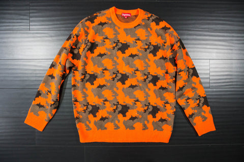 SUPREME CAMO SWEATER - Sz XL