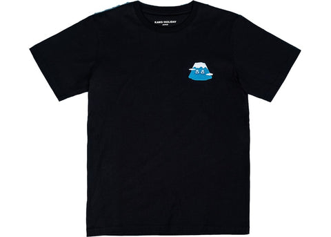 "KAWS HOLIDAY JAPAN EMBROIDERED BADGE TEE ""BLACK"" - Sz MEDIUM"