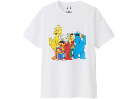 "KAWS SESAME STREET GROUP TEE ""WHITE"" - Sz LARGE"