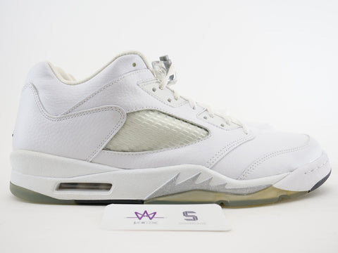 "WMNS AIR JORDAN 5 RETRO LOW ""WHITE METALLIC"" - Sz 13"